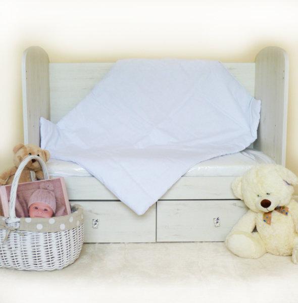 Бебешка олекотена завивка/бяло хасе/Вата